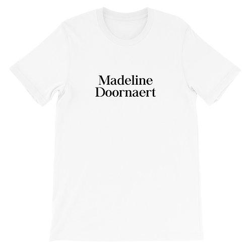 Madeline Doornaert (#001) - White Short-Sleeve Unisex T-Shirt