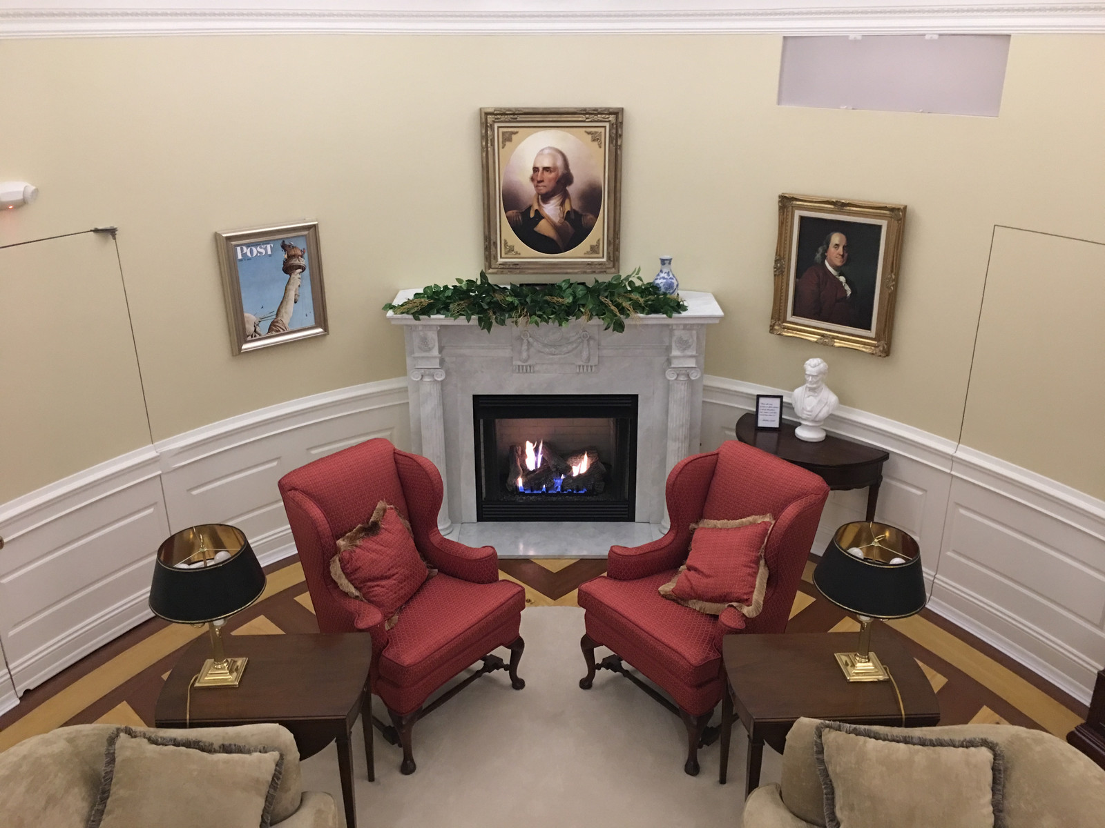 oval office fireplace. Oval Office Design Fireplace C