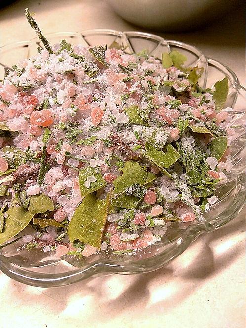 Three salts, Bay and Cedar Bath Salts
