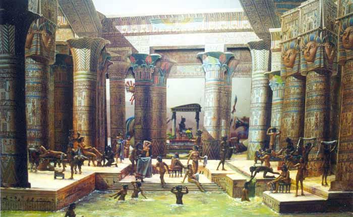 Representation of ancient Egyptian baths