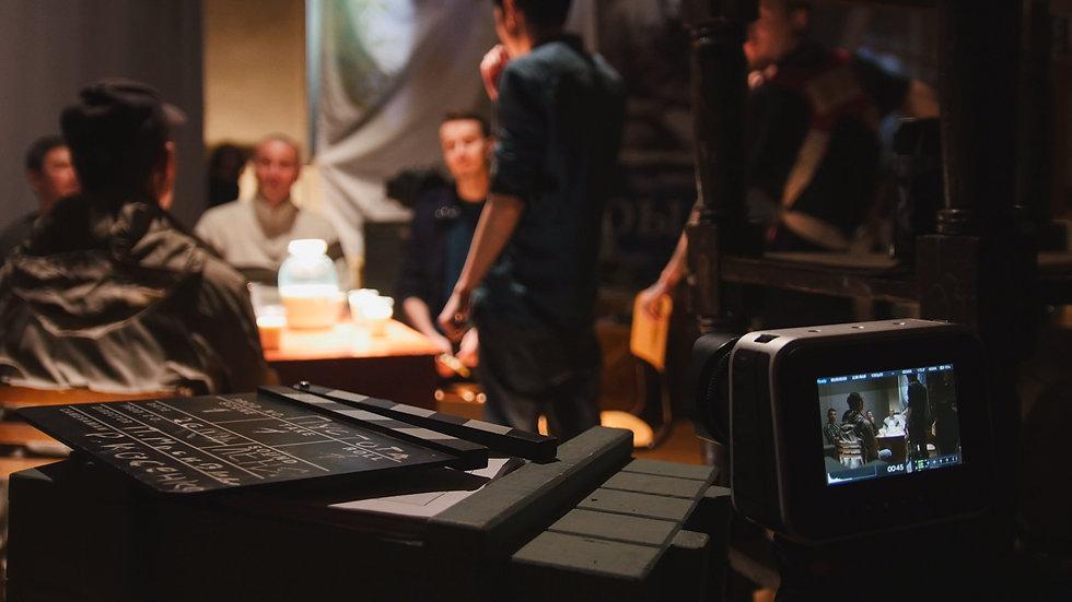 Film set - director, cinematographer and