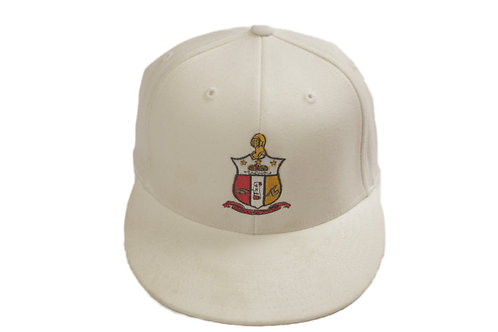 "White ""Kappa Shield"" Baseball Cap"