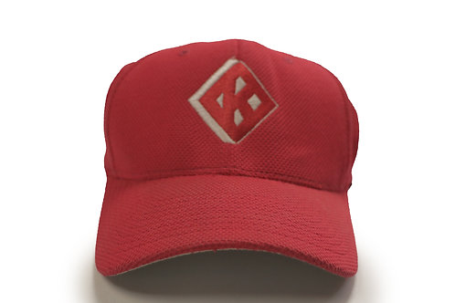 "Red ""Diamond with a K"" Baseball Cap"