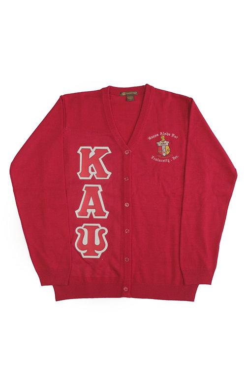 Red Kappa Kardigan Sweater