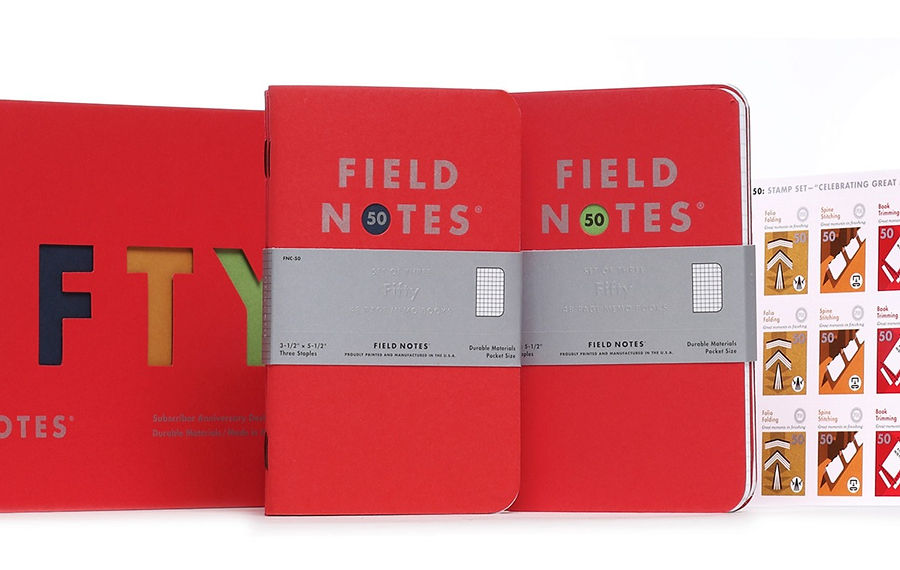 The Daily Heller: 50, Count 'Em, 50 Unique Field Notes Editions. Happy Field Day!