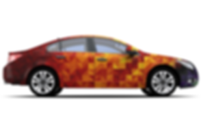 Girafa Marketing Car Wrap, Car advertisi