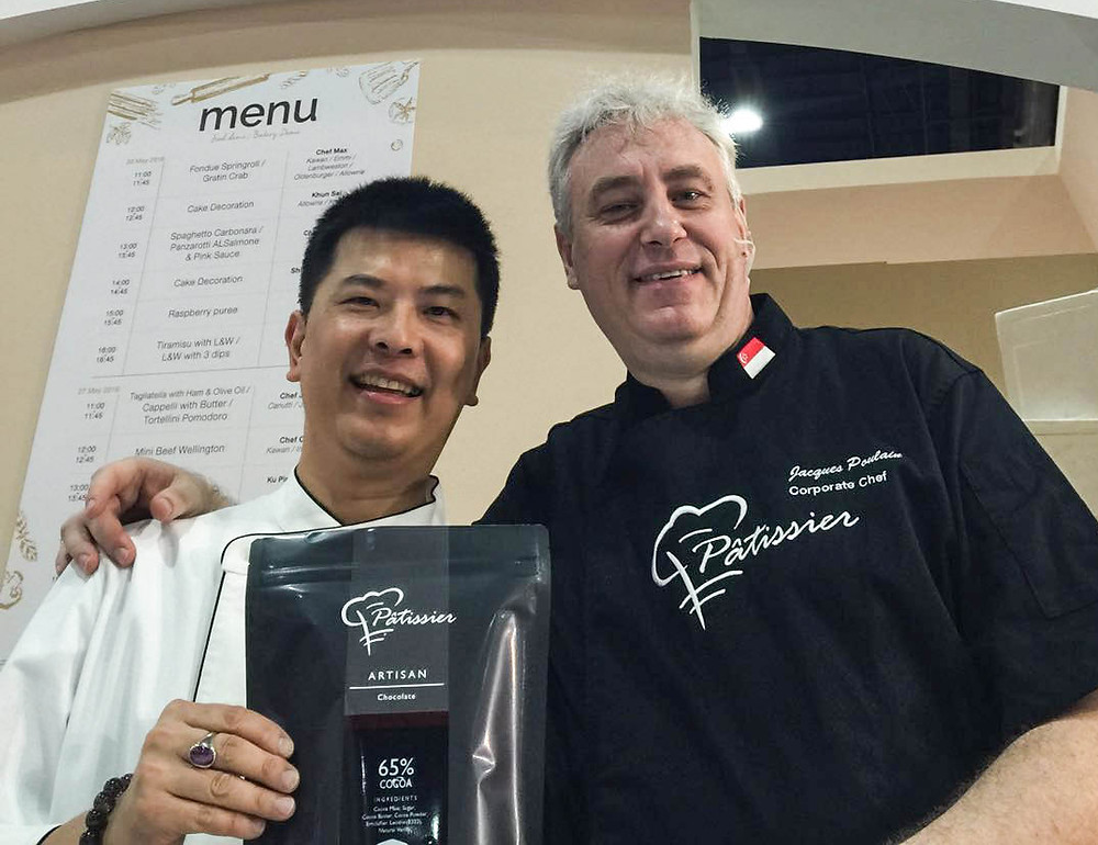 Chef Jacques with KCG's Chef after the Demo