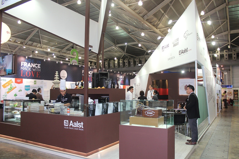 Aalst Chocolate's booth