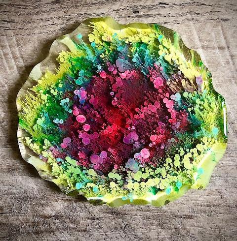 Alcohol Ink Drag Geode