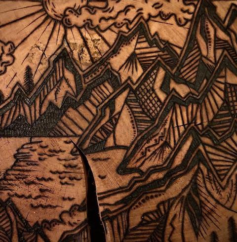 Giant Sea to Sky Wood Slice