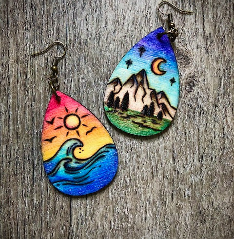 Mother Nature Wood Earrings