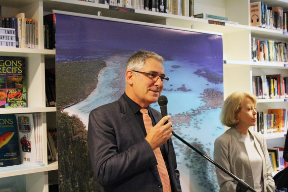 Inauguration of the New Caledonia Cultural Space in the Media Centre with Official Representative of New Caledonia to Australia, Yves Lafoy