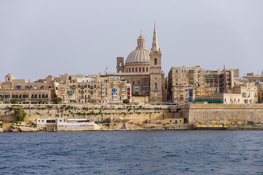 Valletta, the capital city of the islands of Malta.