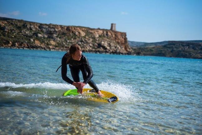 Skimboarding in Malta
