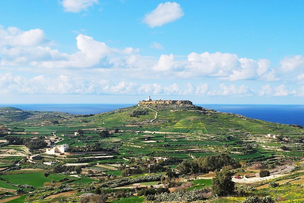 Beautiful campsites on Gozo island located in Malta.