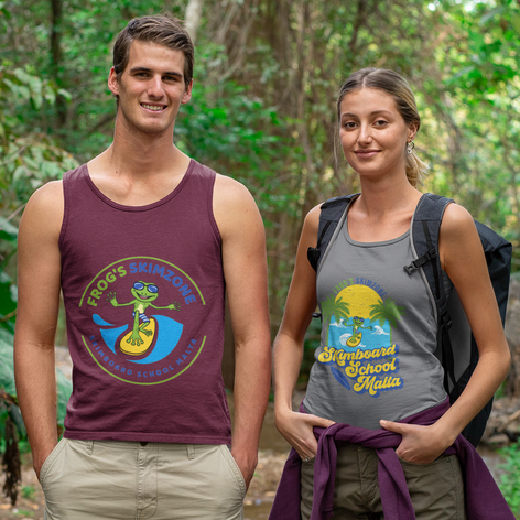 Friends featuring both tank-top designs