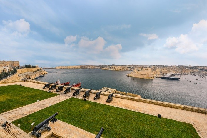 The Grand Harbour in Valletta.