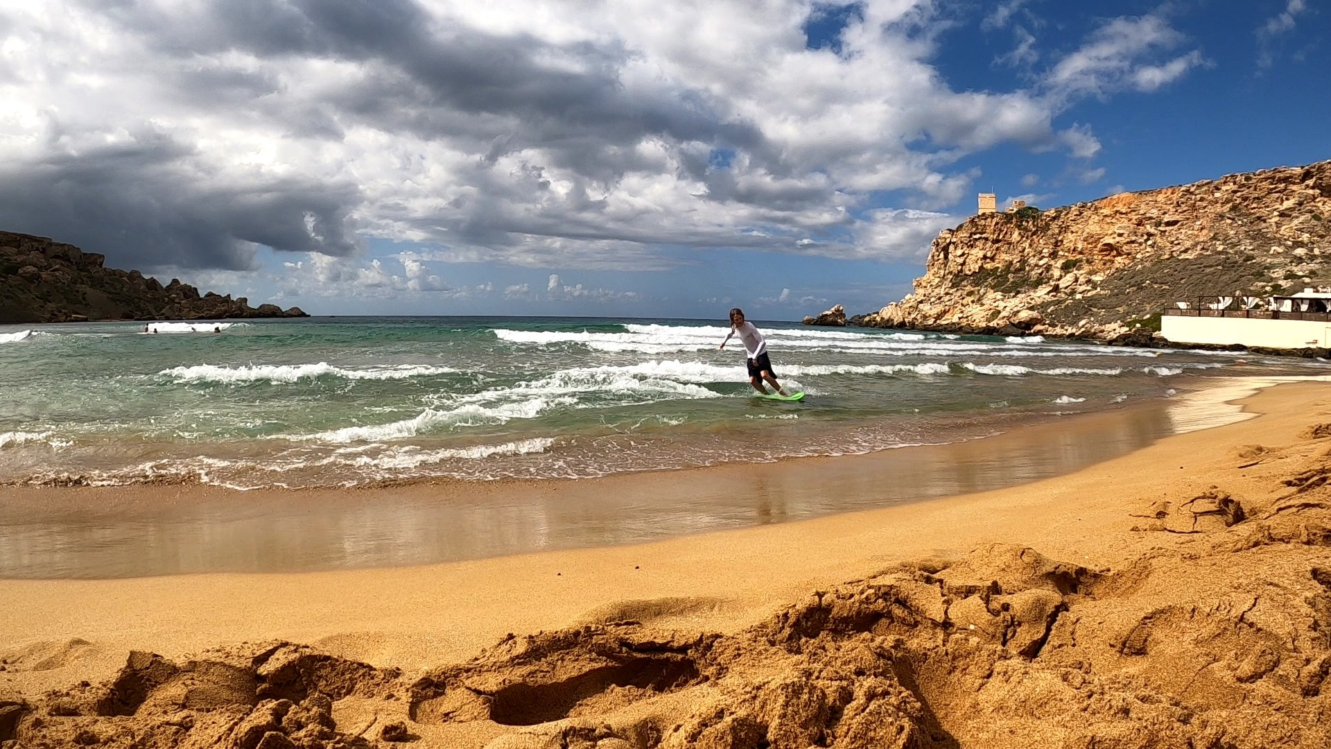 Skimboarding in Malta is always fun.
