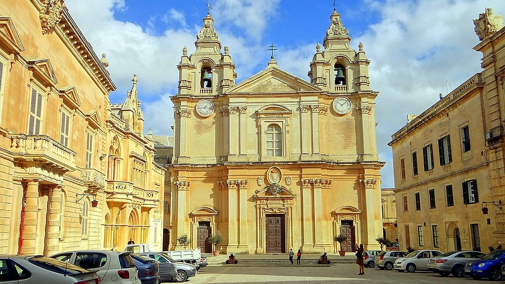 Mdina Cathedral Museum on the island of Malta.