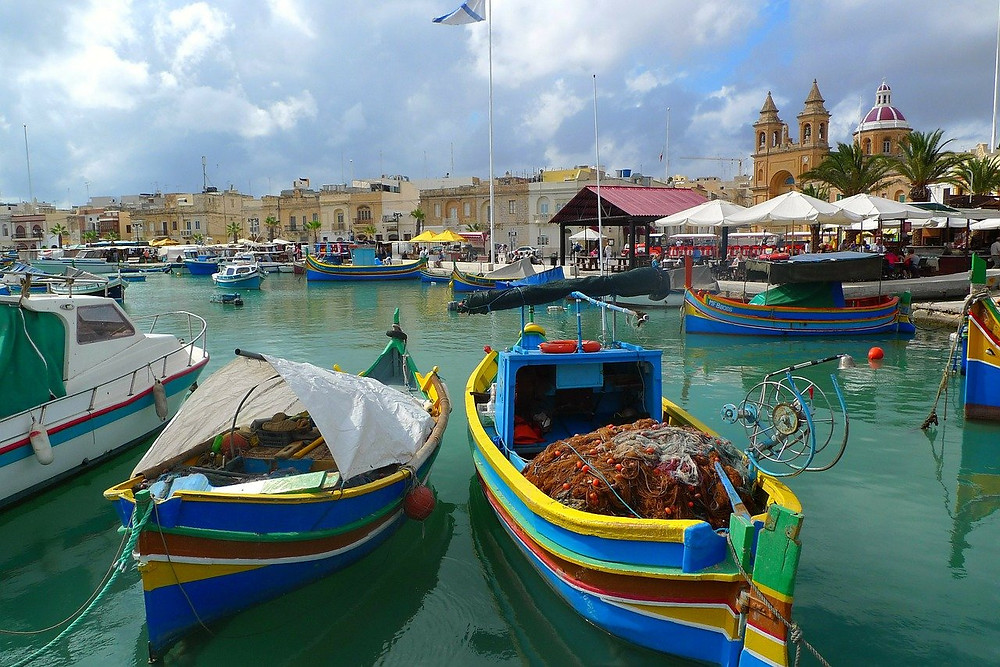 Marsaxlokk the traditional fishing village in the south east of Malta.