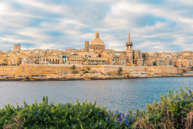 Valletta, the capital city of the islands of Malta.