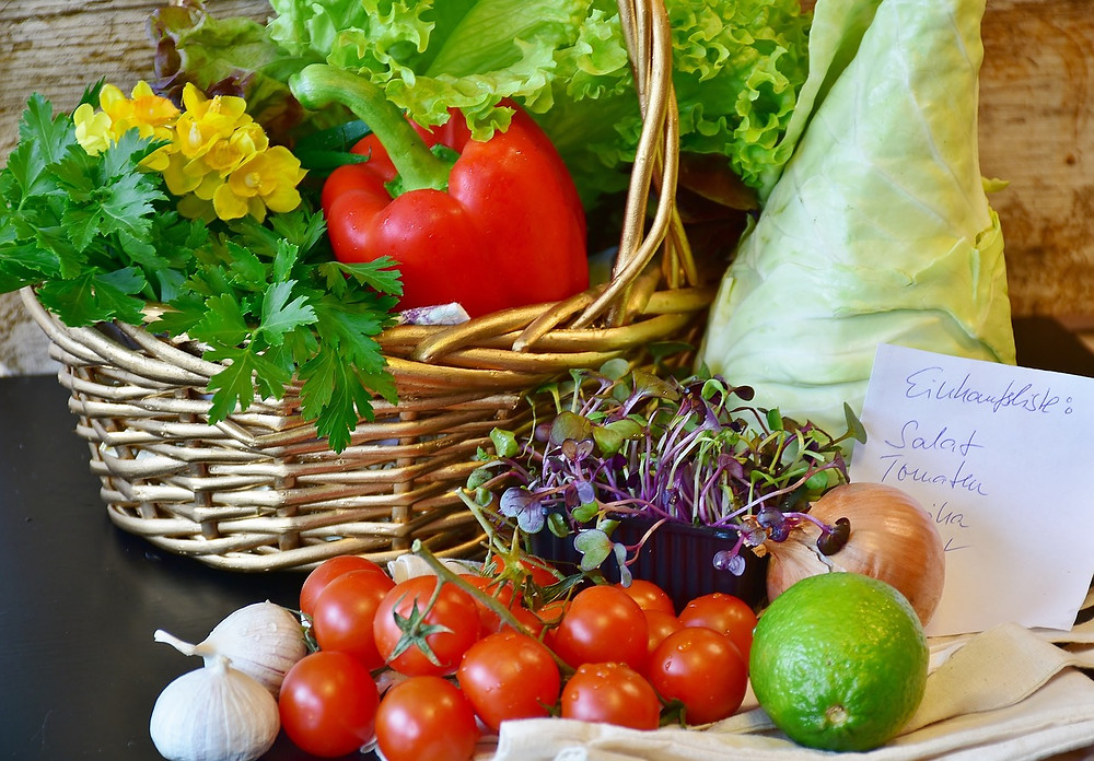 Local vegetables and fruits grown in Malta.