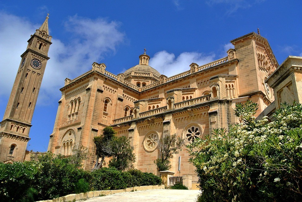 Beautiful Church located on the island of Gozo, Malta.