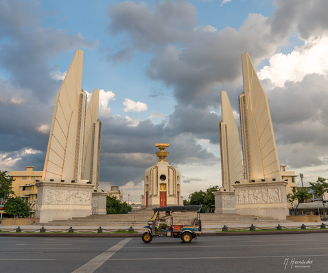 Democracy Monument. Bangkok - Thailand, 2017