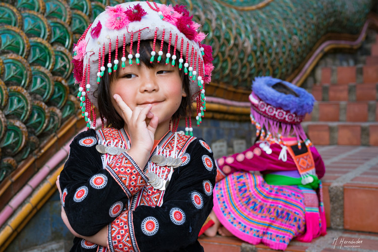 Little girl at Doi Suthep, Thailand. 2017