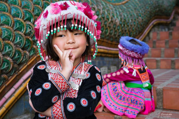 Little girl at Doi Suthep, Thailand. 2017