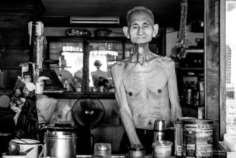 Coffee shop owner at Bangkok, Thailand. 2017