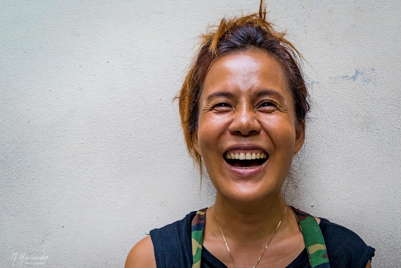 A honest smile at Bangkok, Thailand. 2016