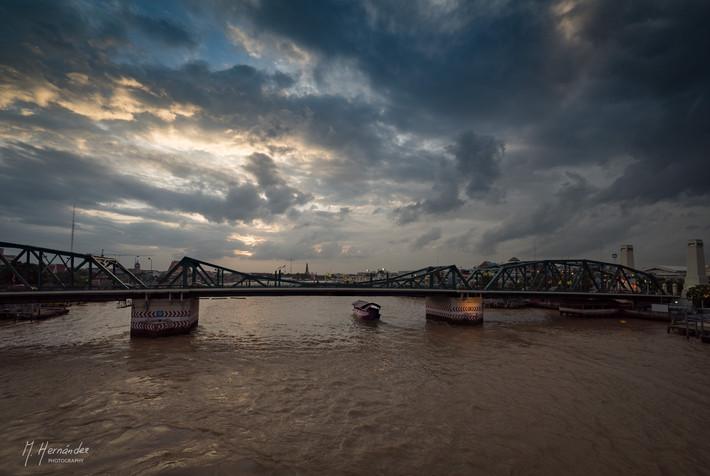 Memorial Bridge at Bangkok, Thailand. 2017