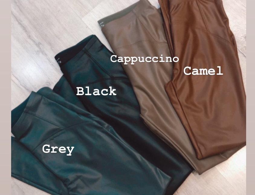 Eco leather push up pants