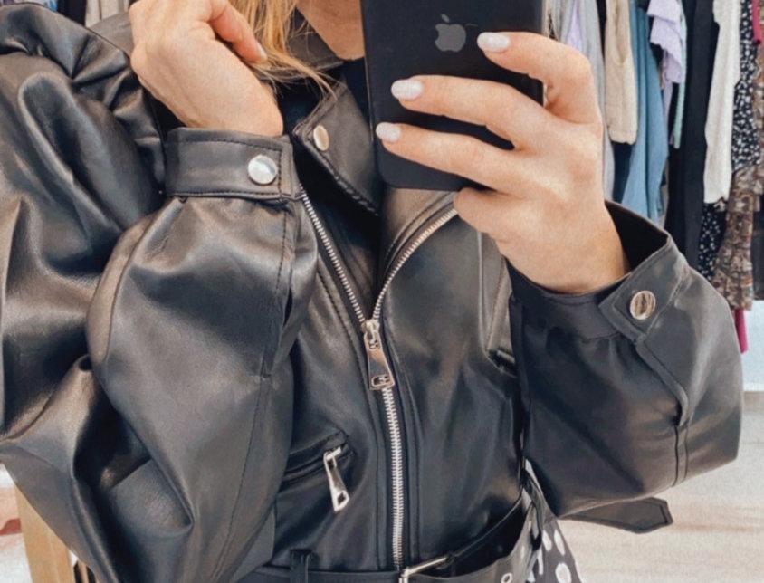 Eco leather jacket
