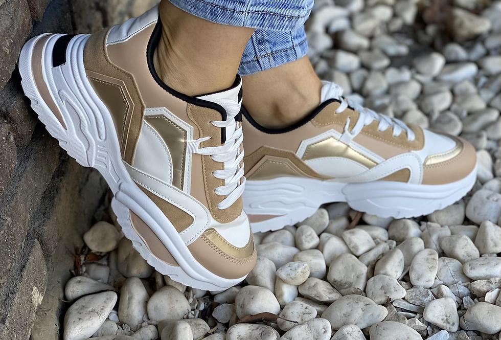 Sneakers άσπρο χρυσό