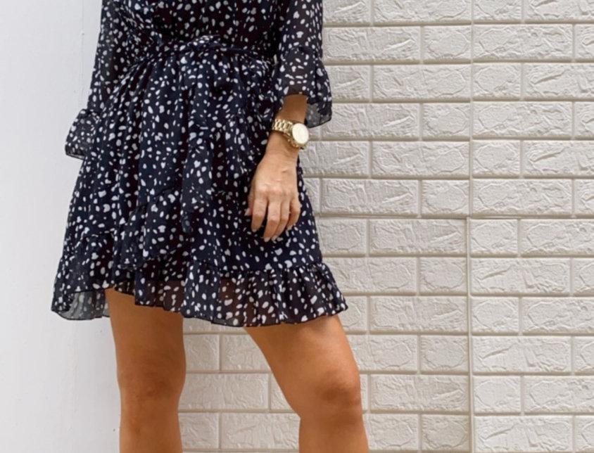 Φόρεμα πουά μίνι