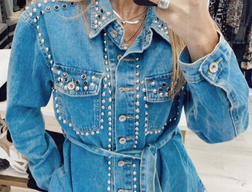 Jean jacket με τρόυκς