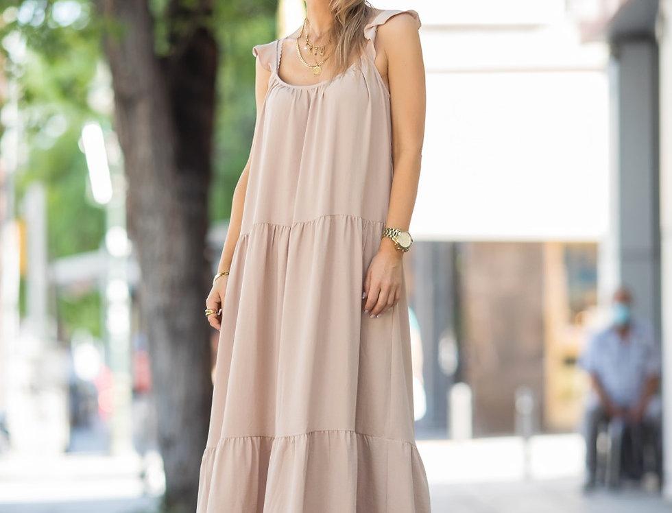 Μπεζ maxi dress