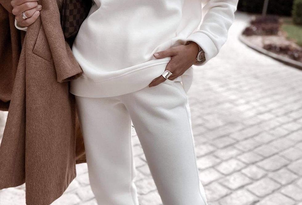 Άσπρη φόρμα σετ φουτερ