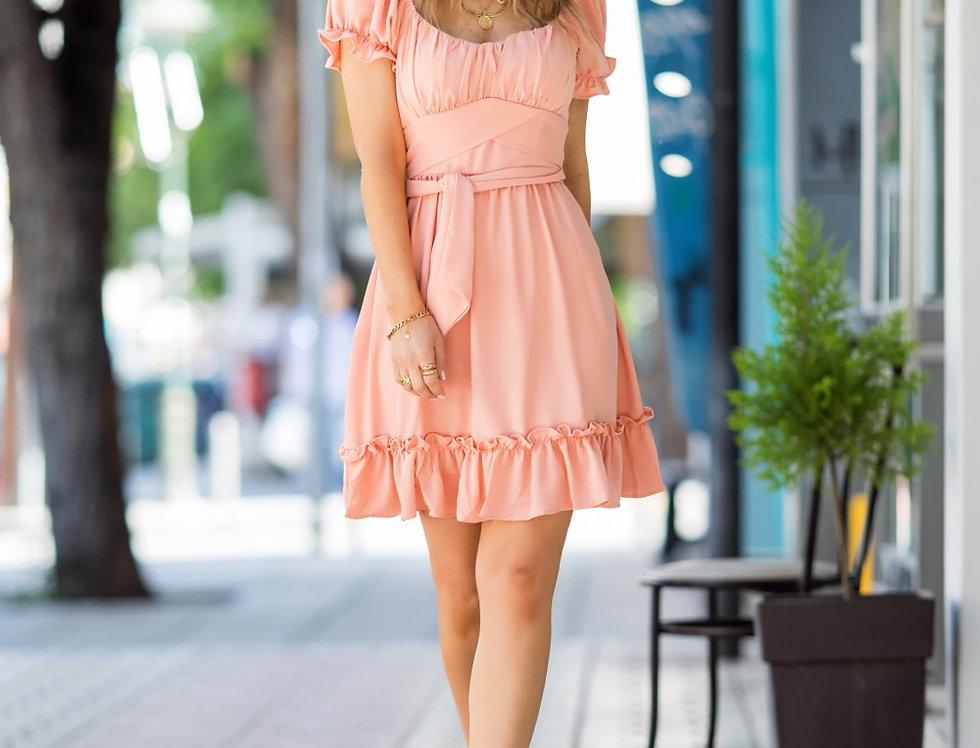 Φόρεμα μίνι με βολάν