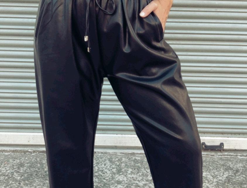 Παντελόνι δερμα με λάστιχο