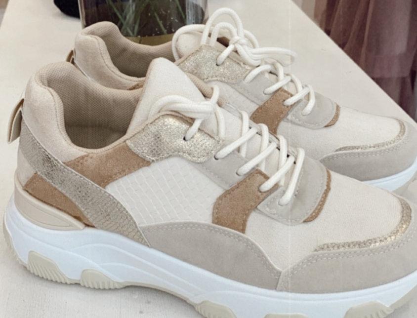 Sneakers beige gold