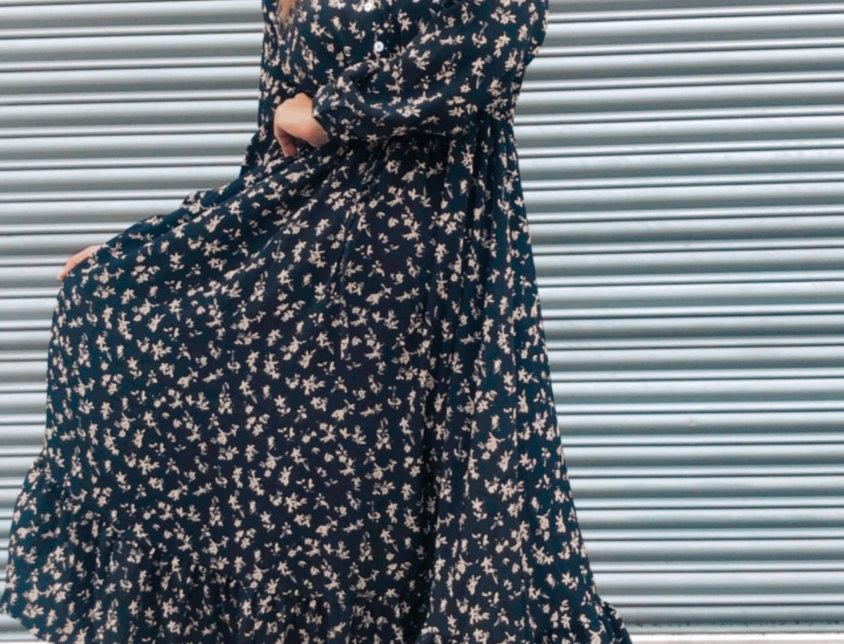 Φόρεμα μαύρο floral