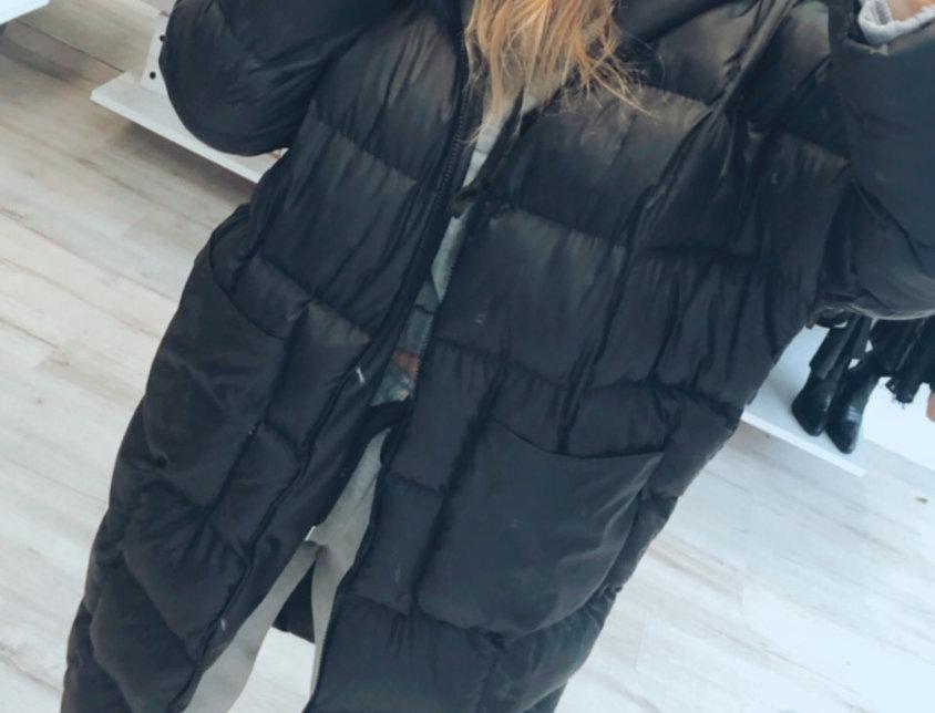 Bomber maxi jacket black