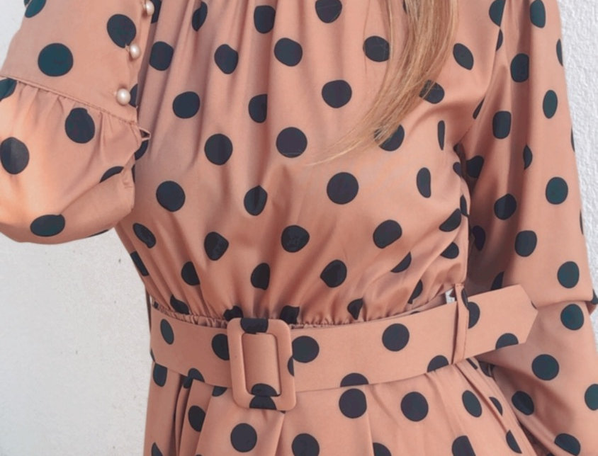 Φόρεμα caramel πουα
