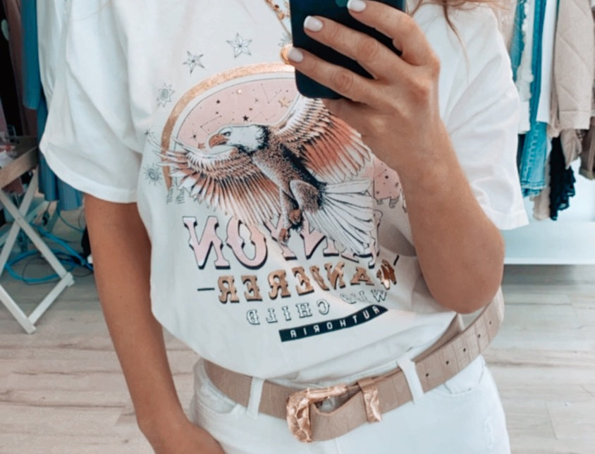 T shirt gold rose