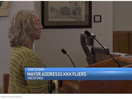 Report Back from Medford No KKK Action