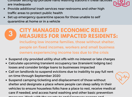 Action Needed Now at City, County, State Levels to Stabilize Families, Small Businesses in Crisis