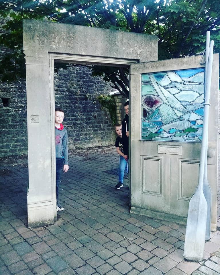 Door at Sunderland Sculpture Trail on the marina